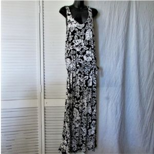 Michael Kors  Hawaiian print knit maxi dress small